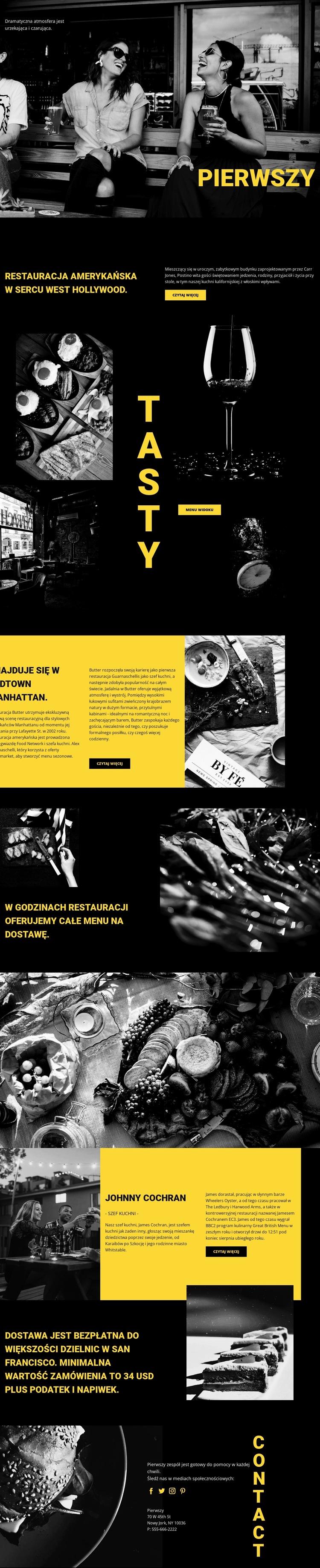 Najlepsza restauracja na świecie Szablon witryny sieci Web