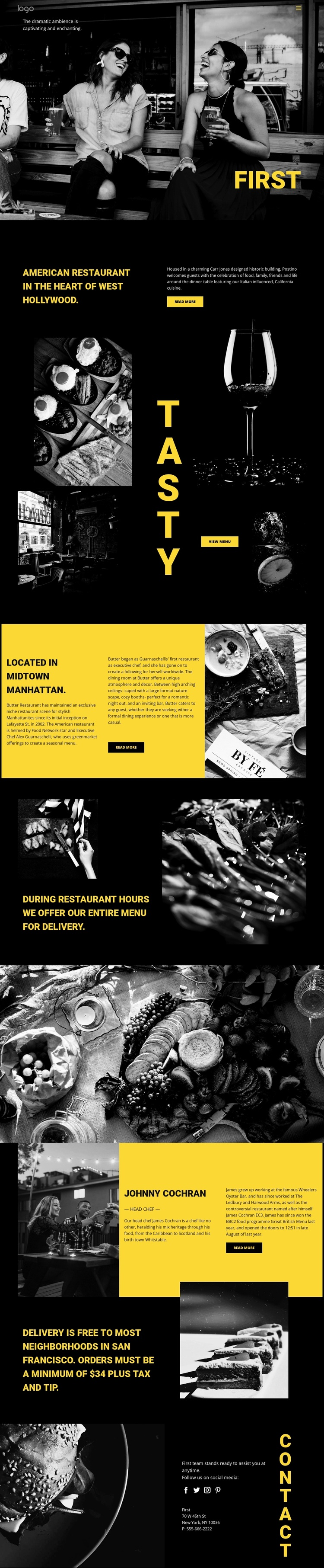 World's best restaurant Website Design