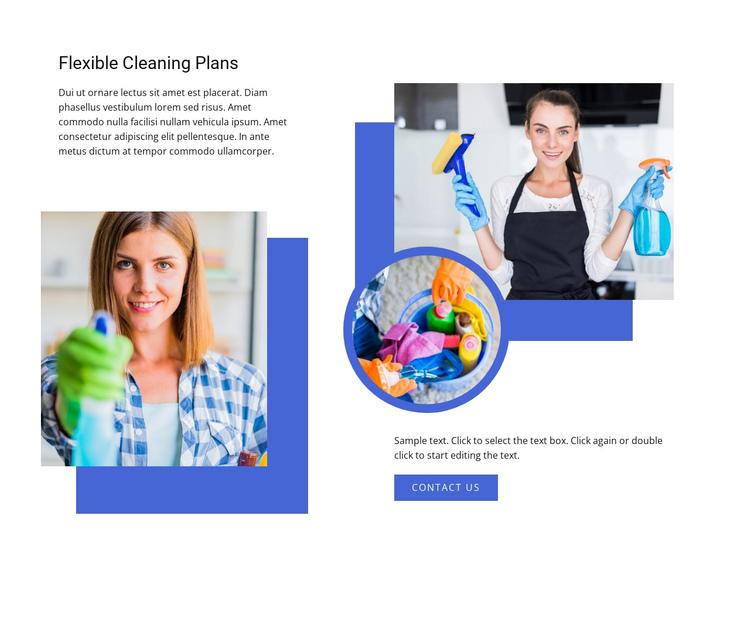 Flixible cleaning plans Website Builder Software