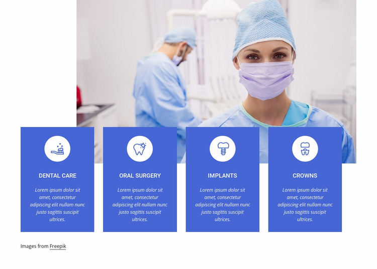 Our highest quality services Website Mockup