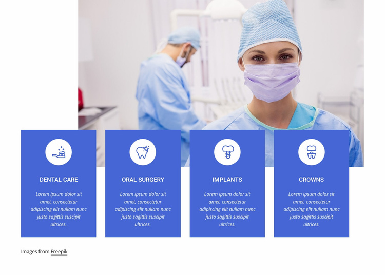 Our highest quality services Website Template