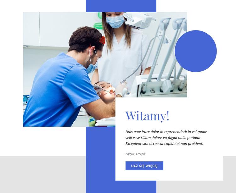Witamy w naszym centrum stomatologicznym Szablon witryny sieci Web