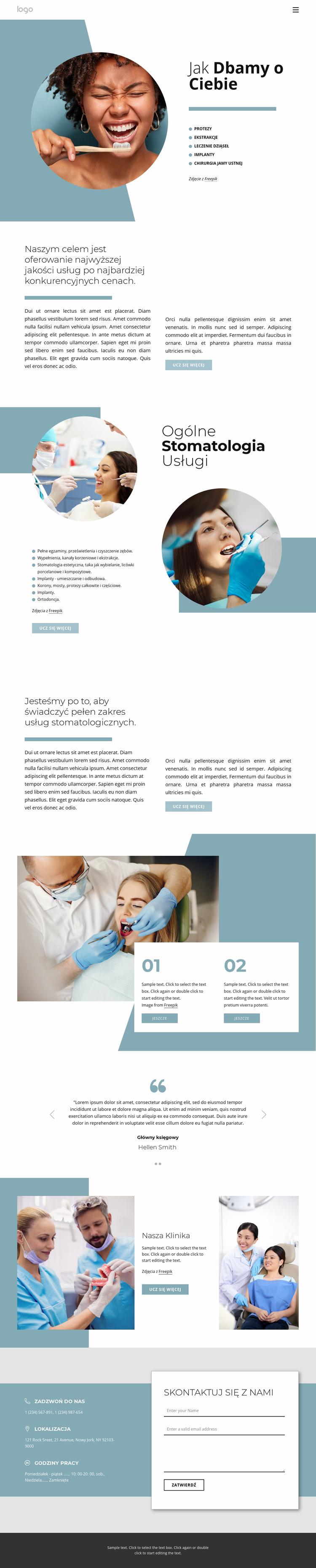 Wysokiej jakości usługi stomatologiczne Szablon Joomla