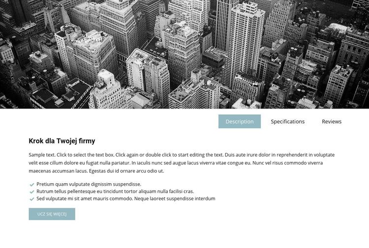 Obraz firmy i karty Szablon witryny sieci Web