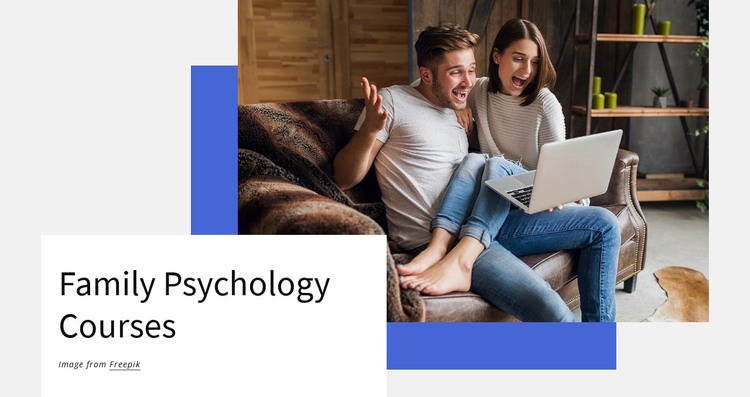 Family psyhology courses HTML Template