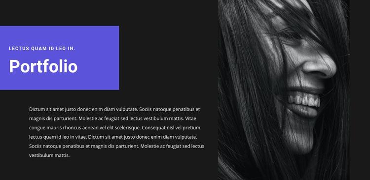 Künstlerportfolio Website-Vorlage