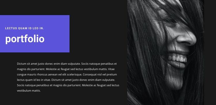 Artist's portfolio Html Code Example