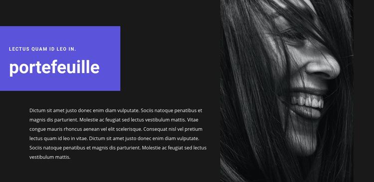Portfolio van de kunstenaar Website sjabloon