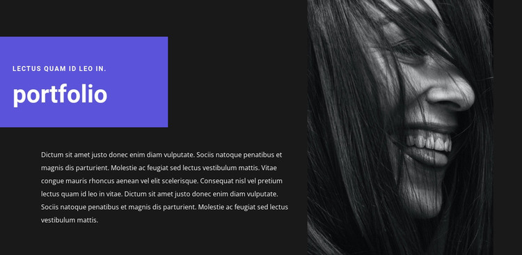 Artist's portfolio Web Design