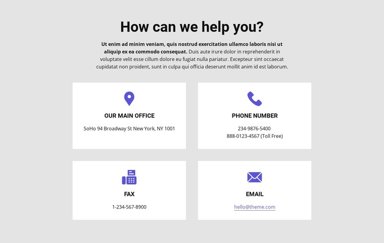 How can we help you Web Page Designer