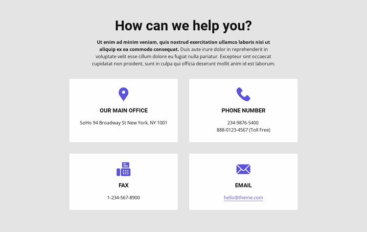 How can we help you Website Mockup