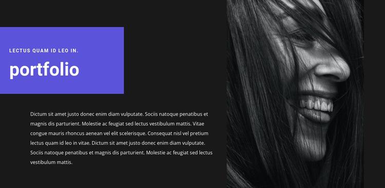 Artist's portfolio Website Mockup