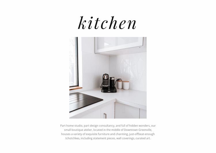 Kitchen Design Website Mockup