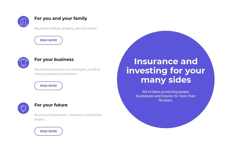 Investing in the future CSS Template