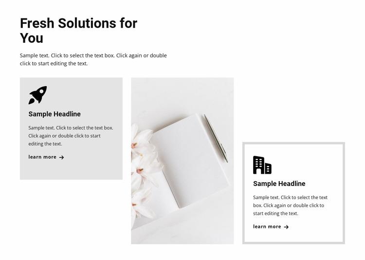 New trends in business Website Mockup