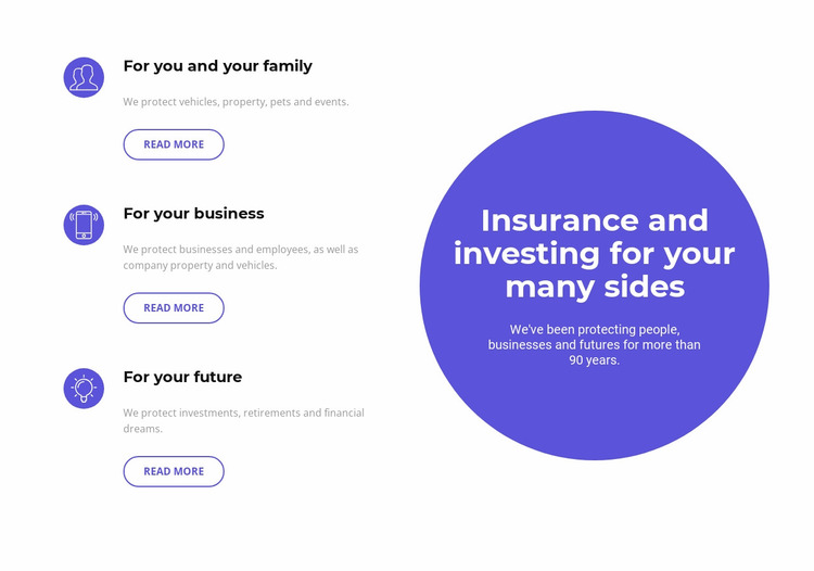 Investing in the future Website Mockup