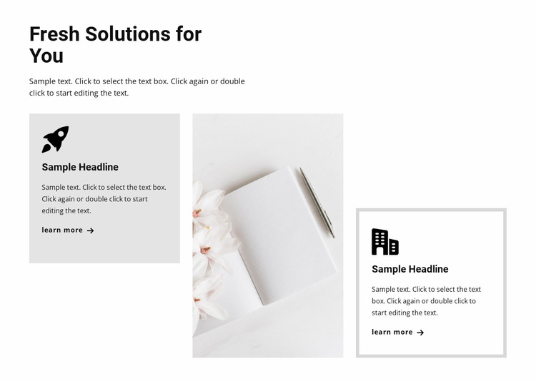 New trends in business Website Template