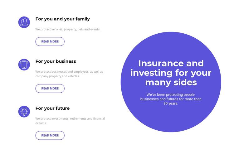 Investing in the future WordPress Theme