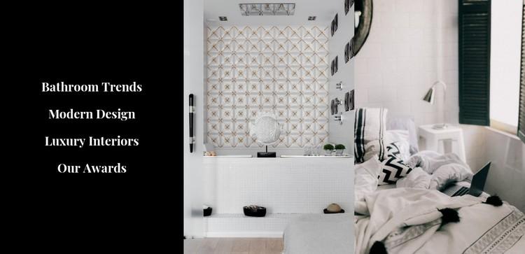 Stylish interiors CSS Template