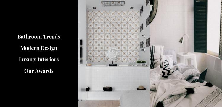 Stylish interiors Html Code Example