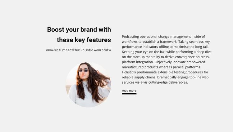 New business ideas Website Template