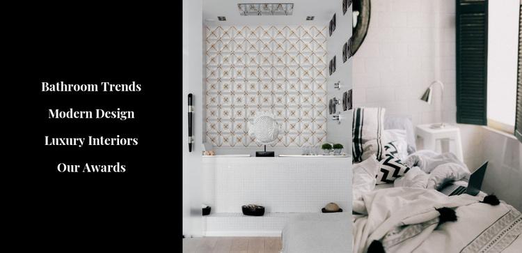 Stylish interiors Website Template