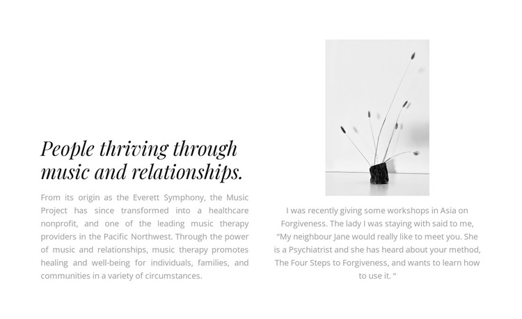 Two texts and a photograph WordPress Theme