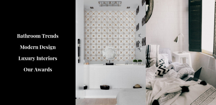 Stylish interiors WordPress Website Builder