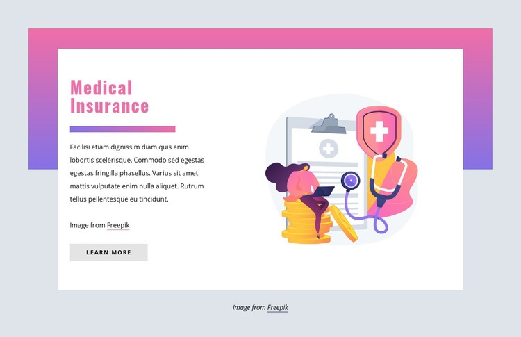 Medical insurance Html Code Example