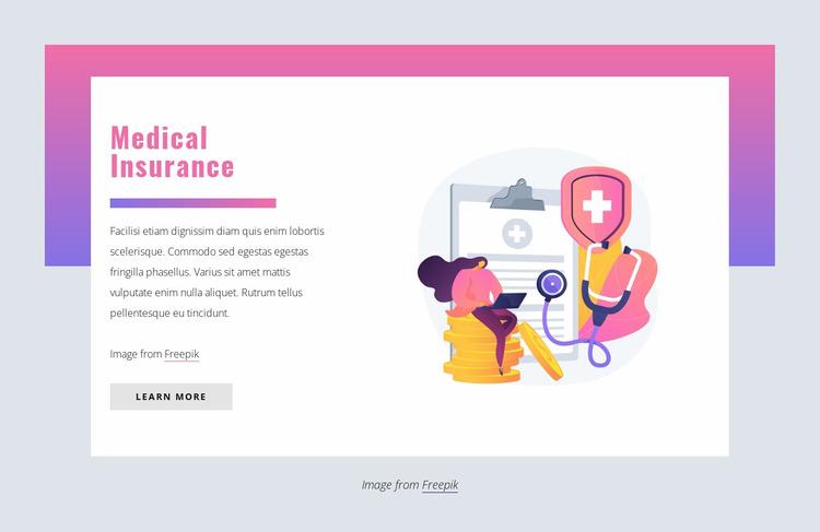 Medical insurance Website Mockup