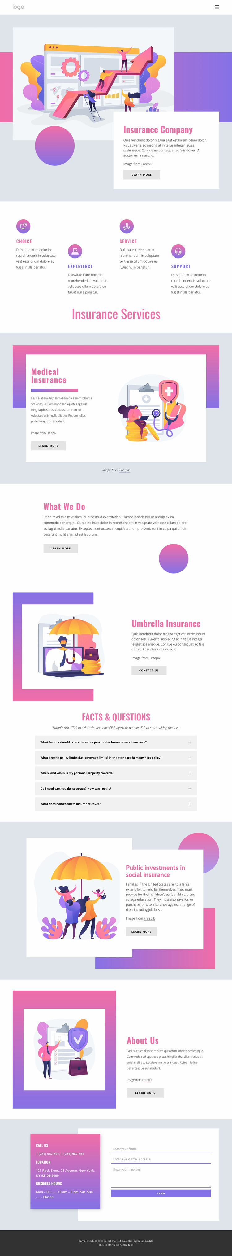 Your consultant for all business risks Website Mockup