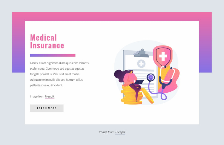 Medical insurance Website Template