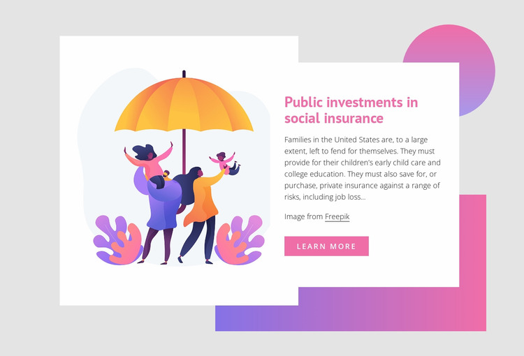 Public investments in social insurance WordPress Website Builder