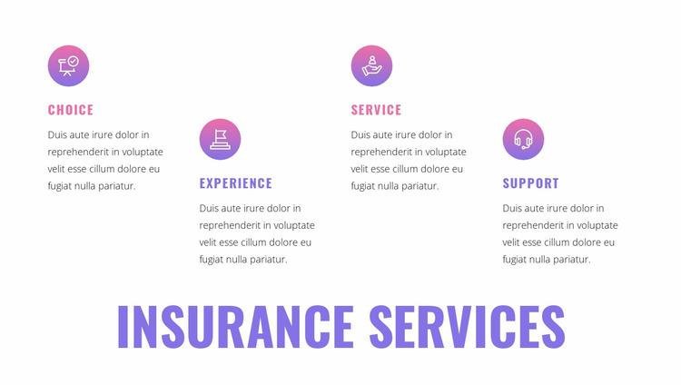 Insurance services Html Website Builder