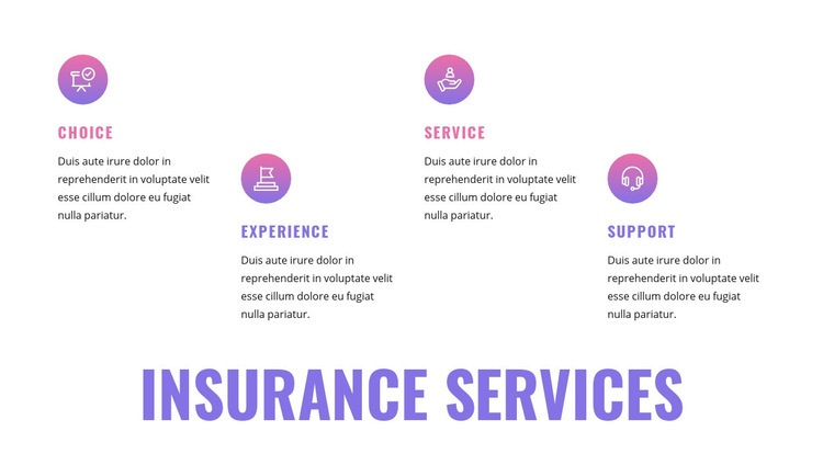 Insurance services Web Page Design