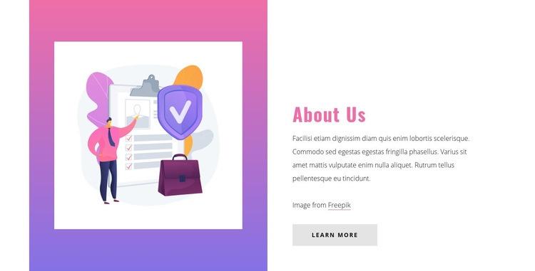 About insurance company Web Page Designer