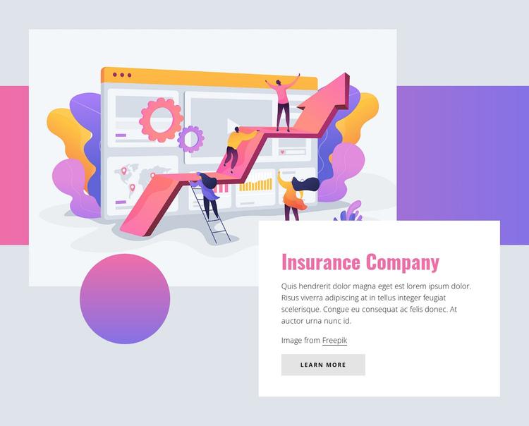 Insurance company Website Builder Software