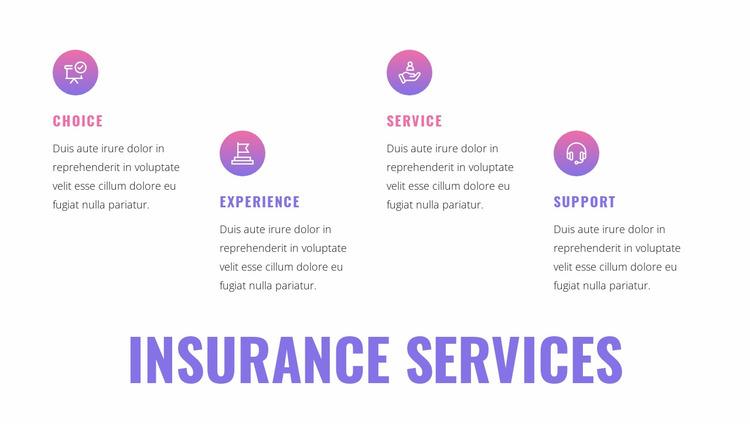 Insurance services Website Mockup