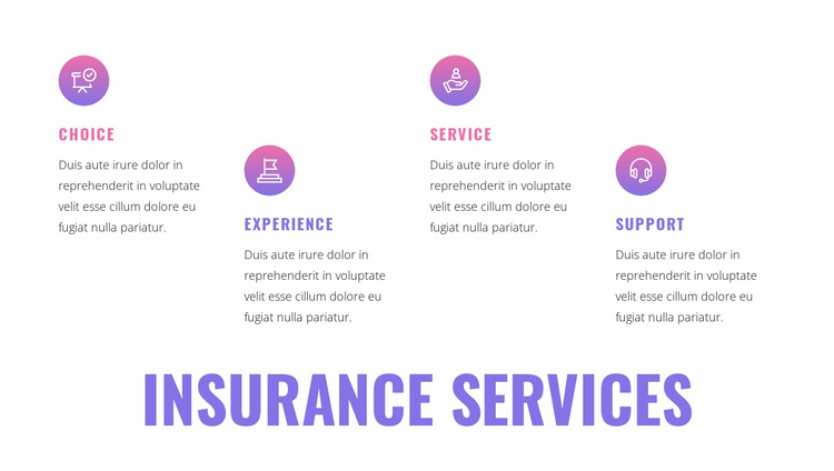 Insurance services Website Template