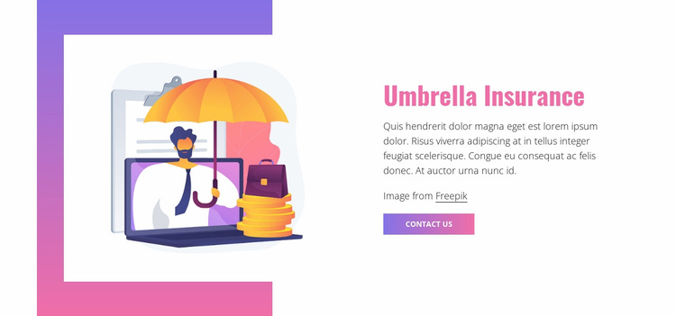 Umbrella insurance Website Template