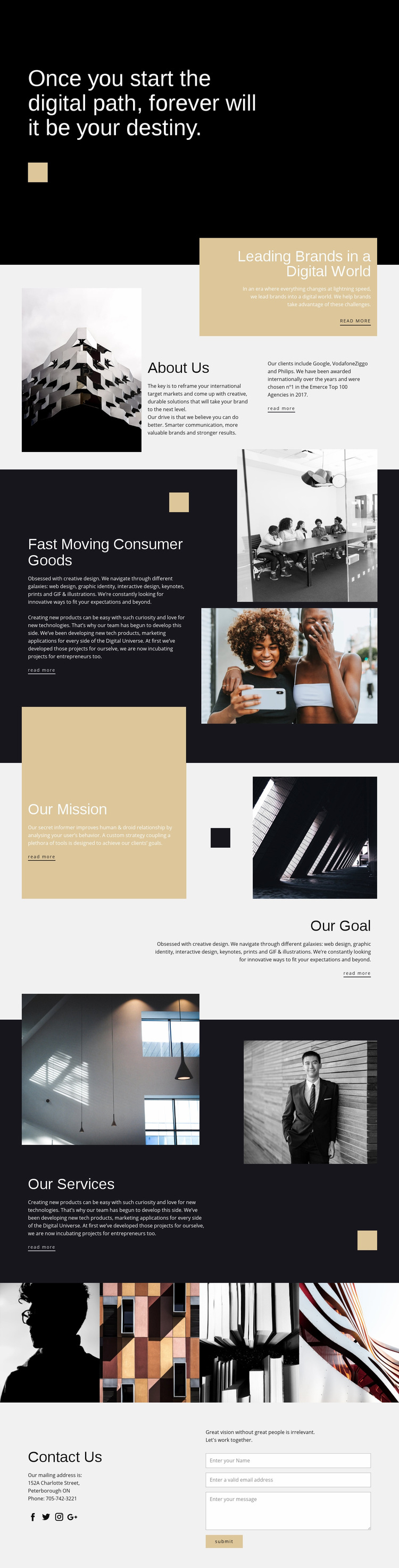 Destiny photo studio Web Page Design