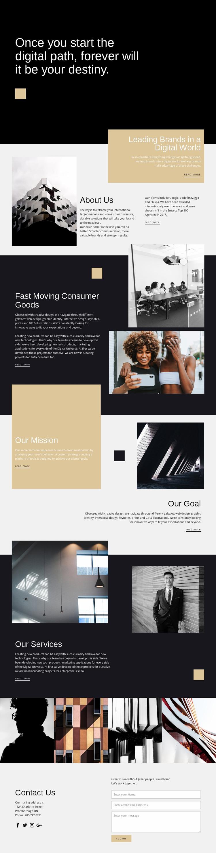 Destiny photo studio Website Mockup