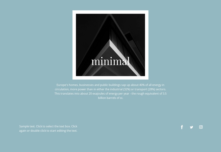 Minimal agency Web Page Design