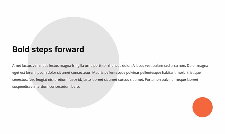 We believe that bold steps define the future Web Page Design