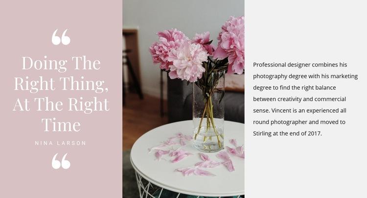 Beautiful quote Web Page Designer