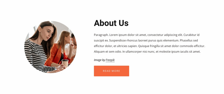 About our consulting company Website Mockup