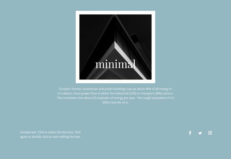 Minimal agency Website Mockup