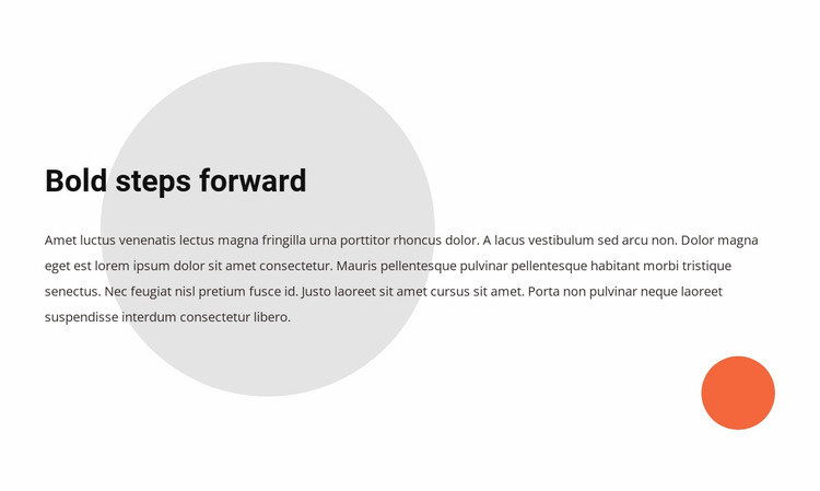 We believe that bold steps define the future Website Mockup
