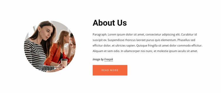 About our consulting company Landing Page