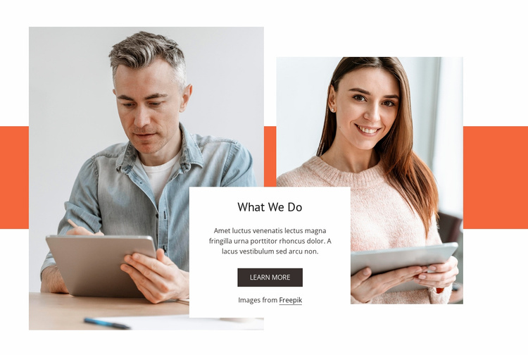 People and change Website Template